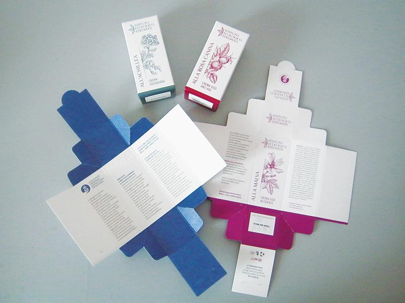 Istituto Ecologico Edelweiss grafica imballaggio