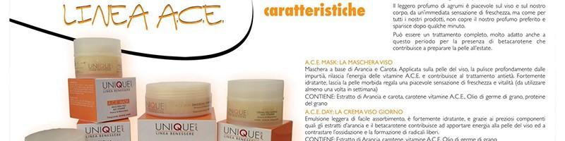 UNIQUEPELS ALTA COSMESI: Linea A.C.E. – una spremuta di Vitamine, Arancia e Betacarotene per la pelle (comunicato stampa)