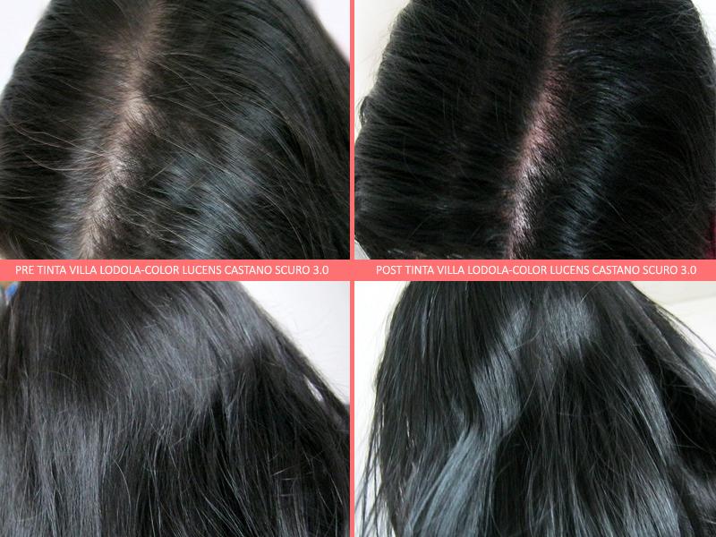 Prima e Dopo Tinta Villa Lodola Color Lucens Castano Scuro