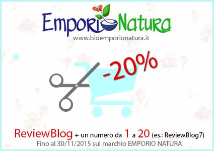 codice sconto 20 emporio natura
