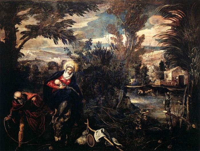 Fuga in Egitto - Tintoretto (1518-1594)