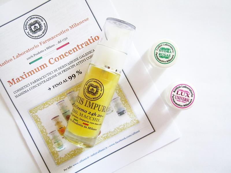 A.L.FA.MÌ: Cutis Impura, Hydra Rugae e Lux Universi, cosmetici farmaceutici per il viso alla massima concentrazione di principi attivi
