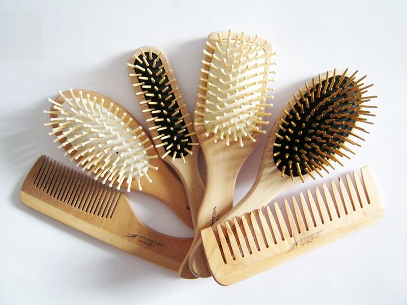 spazzole e pettini di legno