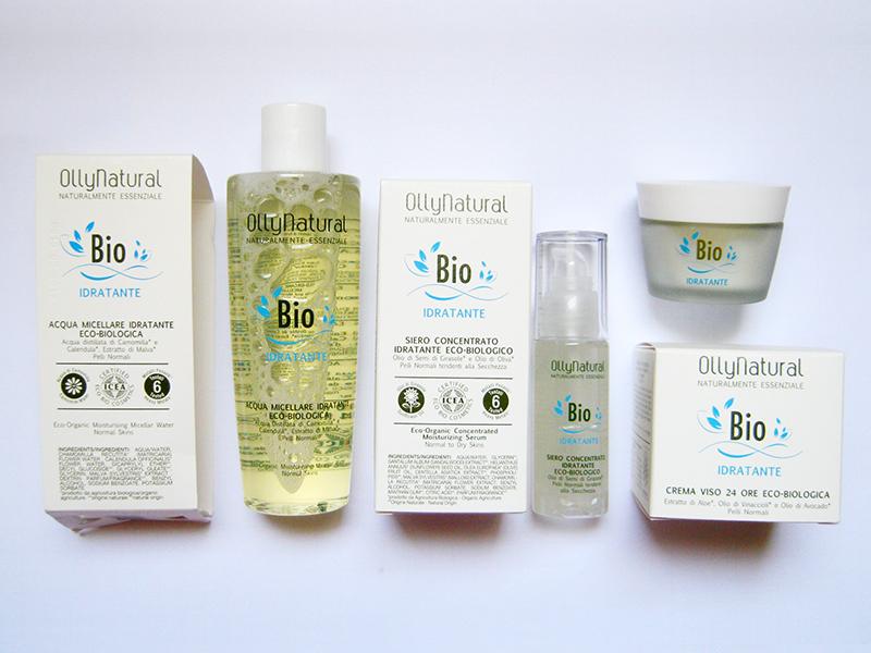 OLLYNATURAL – BIO IDRATANTE: fitocosmetici per la detergenza e l'idratazione della pelle normale e con tendenza alla secchezza