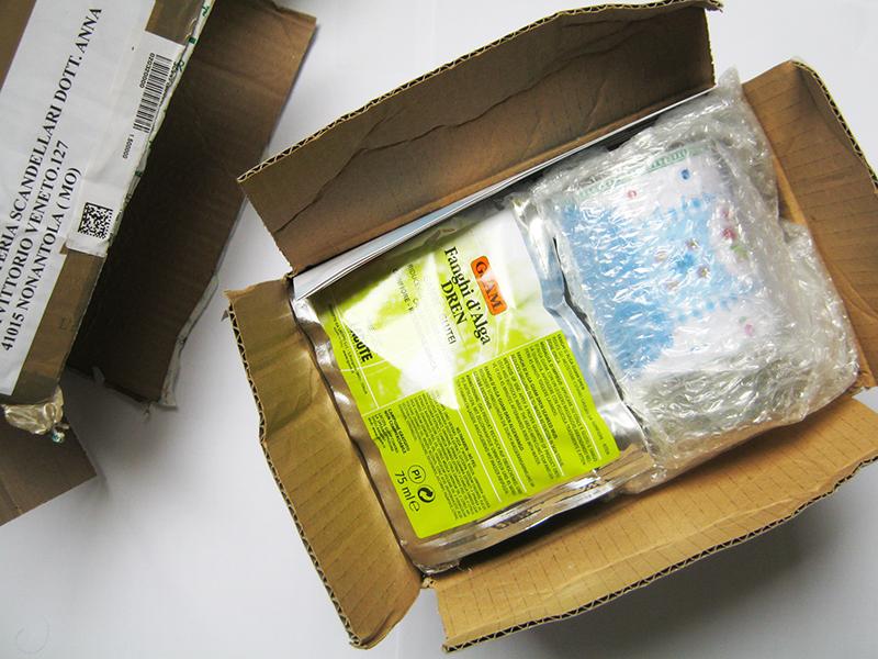 Erboristeria Scandellati imballaggio