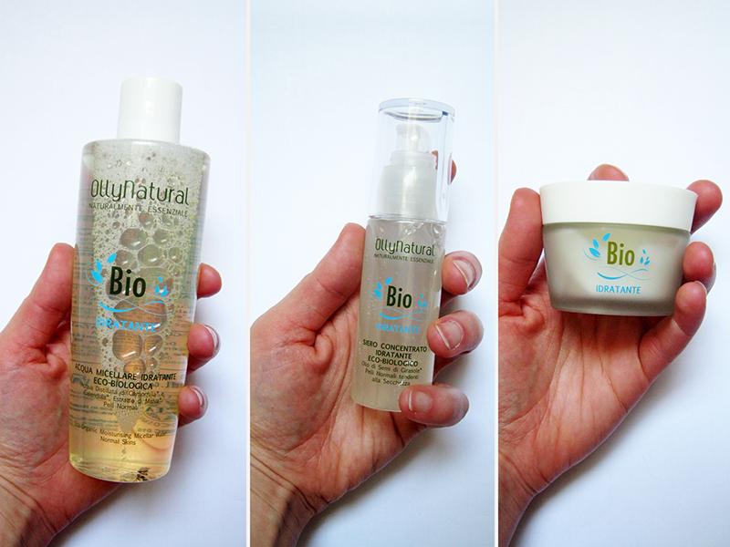 Ollynatural Bio Idratante acqua micellare, siero viso, crema viso