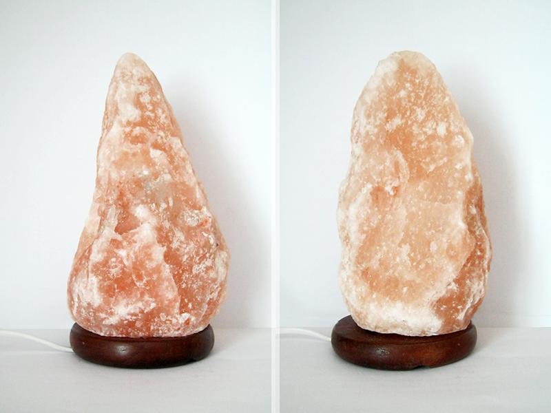 lampada di sale rosa himalayano design blocco