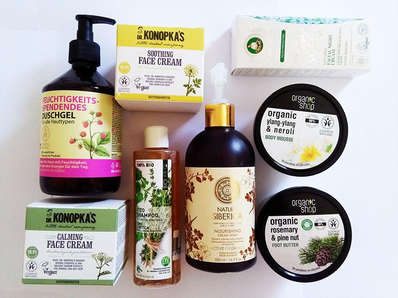 Cosmetici di fine estate 2018 con Qualikos Biolab per i capelli, con White Agafia e Dr. Konopka's per il viso, con Natura Siberica, Oma Gertrude e Organic Shop per il corpo